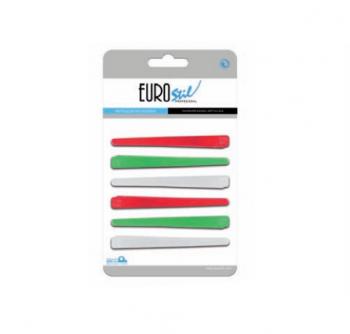 Зажим для волос Eurostil пластиковый - 6 шт в уп | Venko