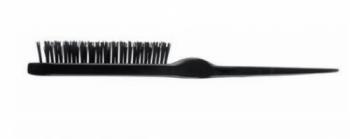 Щетка для начеса Eurostil 3-ряд. искусственная щетина черная прямая | Venko