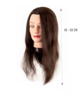 Манекен голова Eurostil (натуральные волосы - длинные 45-50см) | Venko