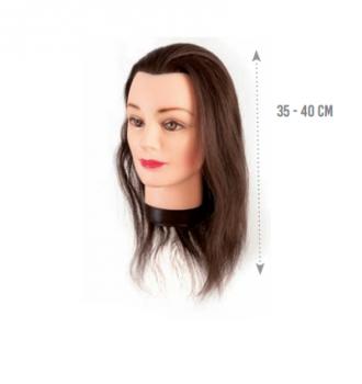 Манекен голова Eurostil (натуральные волосы - средние 35-40см)