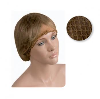 Сеточка для волос Eurostil светло-коричневая (уп. 12 шт)