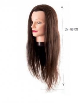 Манекен голова Eurostil (натуральные волосы - 55 60 см) | Venko
