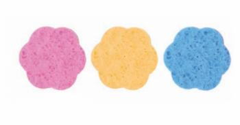 Спонжик для макияжа Eurostil из целлюлозы - цветной