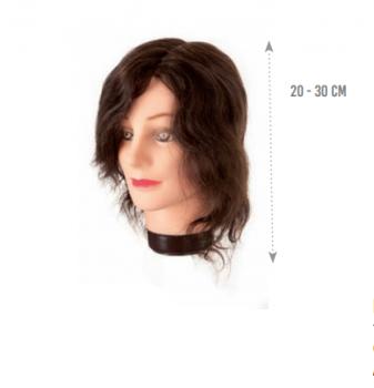 Манекен голова Eurostil (натуральные волосы - короткое 20-30 см) | Venko
