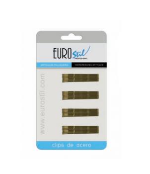 Невидимки Eurostil коричневые маленькие - 24 шт | Venko