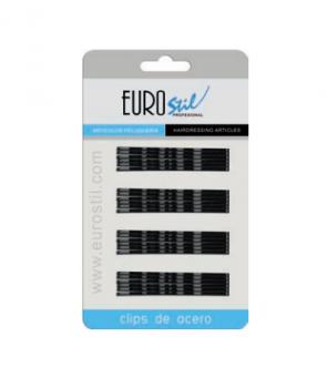 Невидимки Eurostil черные 70мм - 24 шт в уп | Venko