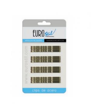 Невидимки Eurostil коричневые 70 мм, 24 шт в уп | Venko