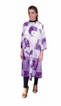 Пеньюар Eurostil для стрижки фиолетовый | Venko