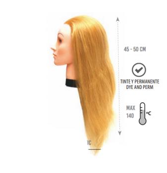 Манекен голова Eurostil (PRO-H волосы - 45-50 см) | Venko