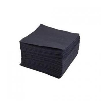 Салфетки одноразовые нарезные черные 10*10(50шт) ТМП