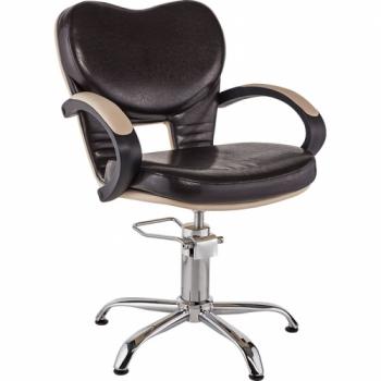 Кресло парикмахерское Clio (коричневое) Ayala | Venko