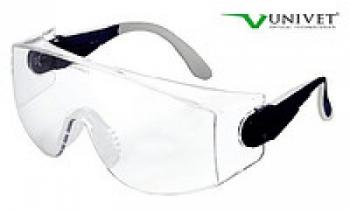 Очки защитные Univet 535 c защитой от царапин совмесное ношение с оптическими очками, регул. дужек