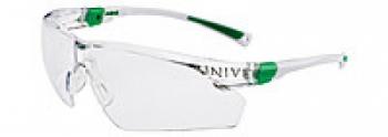 Очки защитные Univet 506U незапотевающие, покрытие от царапин, бело зеленая оправа, регул. дужек