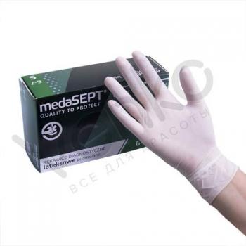 Латексные перчатки неопудренные LatexPF S medaSEPT, 100 шт | Venko