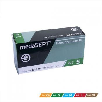 Латексные перчатки неопудренные Latex premium PF M medaSEPT, 100 шт | Venko