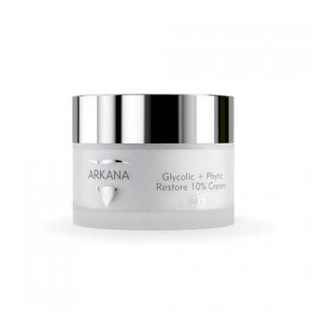 Обновляющий крем с 8% гликолиевой и 2% фитиновой кислотами Arkana Glycolic and Phytic Restore 10% Cream 50мл | Venko