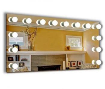 Визажное зеркало J-Mirror Hollywood с лампами накаливания, 600 х 1000 мм