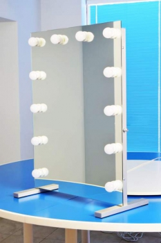 Визажное зеркало J-Mirror Hollywood T с лампами накаливания, 650 х 450 мм