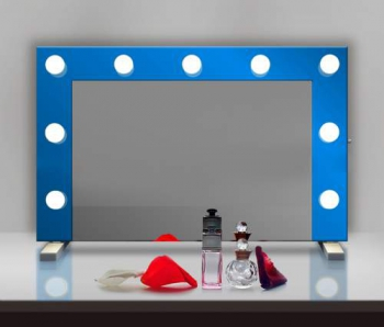 Визажное зеркало J-Mirror Hollywood T Color с лампами накаливания, 600 х 600 мм
