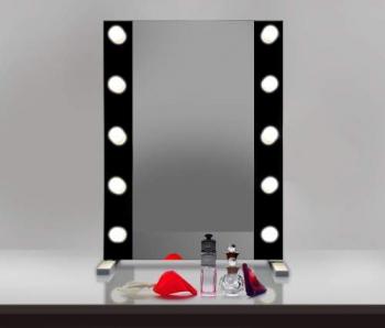 Визажное зеркало J-Mirror Hollywood T2 Color с LED лампами , 700 х 600 мм | Venko