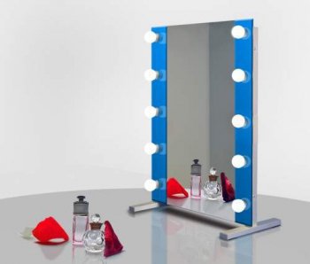 Визажное зеркало J-Mirror Hollywood T2 Color с лампами накаливания, 600 х 600 мм | Venko