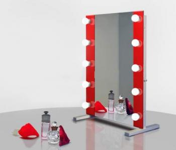 Визажное зеркало J-Mirror Hollywood T2 Color с лампами накаливания, 800 х 600 мм | Venko