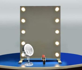 Визажное зеркало J-Mirror Hollywood T2 с LED лампами , 650 х 450 мм