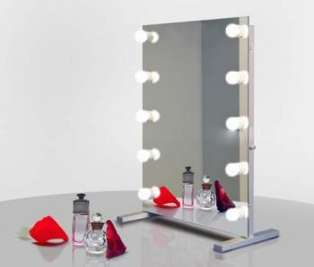 Визажное зеркало J-Mirror Hollywood T2 с лампами накаливания, 600 х 600 мм | Venko