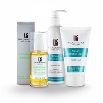 Комплекс: Увлажнение сухих волос + здоровые кончики Piel Cosmetics