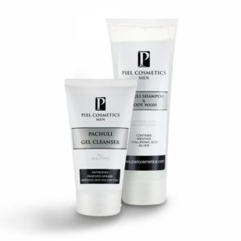 Комплекс: Очищение и свежесть для мужской кожи лица и тела. Базовый комплекс 2. Piel Cosmetics