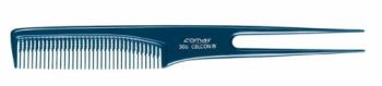 Расческа для тупирования Comair с ручкой -вилкой, синяя | Venko