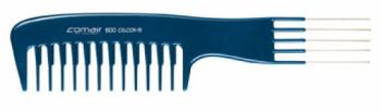 Расческа с ручкой Comair, специальная, с металлическими штырями, синяя