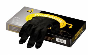 Перчатки из латекса Comair Professional Black, без пудры, черные, большие, (уп. 20 шт.) | Venko