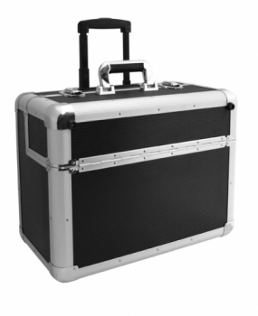 Кейс для инструмента Comair алюминиевый, на роликах, черный