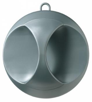 Зеркало ручное Comair Elegant, матовое, d 25 см, серебряное