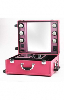 Настольная make-up студия с освещением PS-IST01L (розовая)