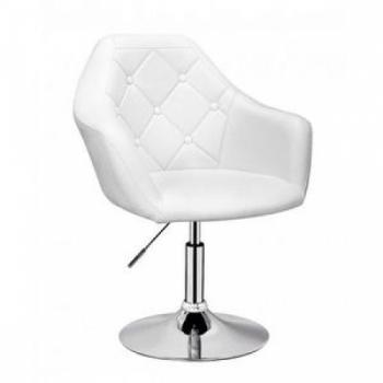 Парикмахерское кресло HC547 белое | Venko