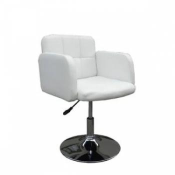 Парикмахерское кресло HC-1118 белое | Venko