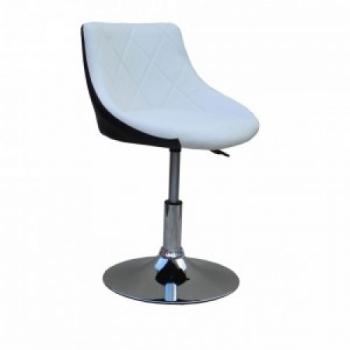 Косметическое кресло HC931N бело-черное | Venko