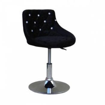 Косметическое кресло HC931N черный велюр | Venko