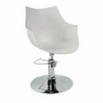 Кресло парикмахерское Кристаль P (белый цвет) | Venko