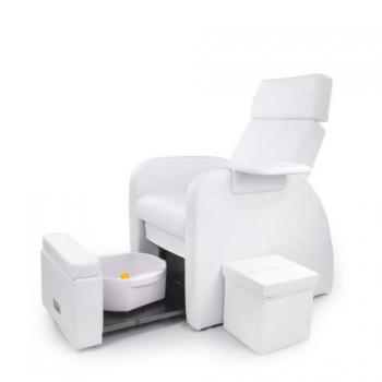 Кресло для педикюра с подставкой для рук и пуфиком для мастера СН-28129 (белый) | Venko