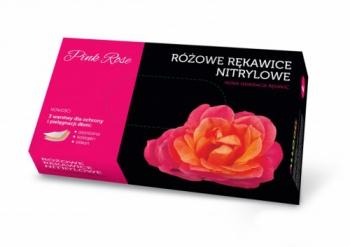 Перчатки нитриловые Pink Rose, М 100 шт/уп | Venko