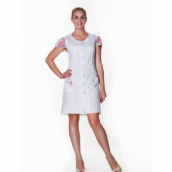 Халат медицинский женский мод.Анжелика  44-164(сорочка цвет белый) | Venko