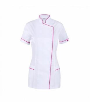 Халат для косметолога Vena Spa 7 Розовый/Белый 36 | Venko