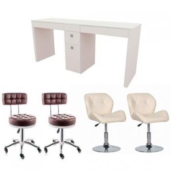 Рабочее место мастера маникюра Дуос  - комплект мебели | Venko