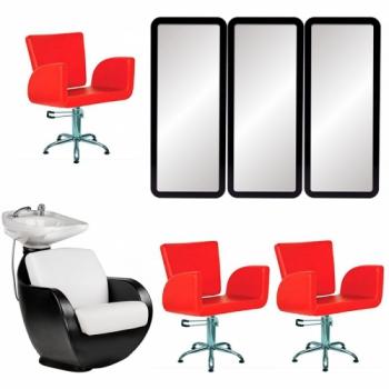 Рабочее место парикмахера Pink - комплект мебели | Venko