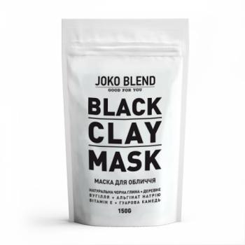 Черная глиняная маска для лица Black Сlay Mask Joko Blend, 150г | Venko
