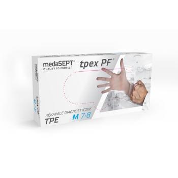 Полимерные перчатки неопудренные TPEXPF medaSEPT, 100 шт | Venko