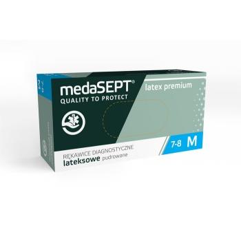 Латексные перчатки опудренные Latexpremium L medaSEPT, 100 шт